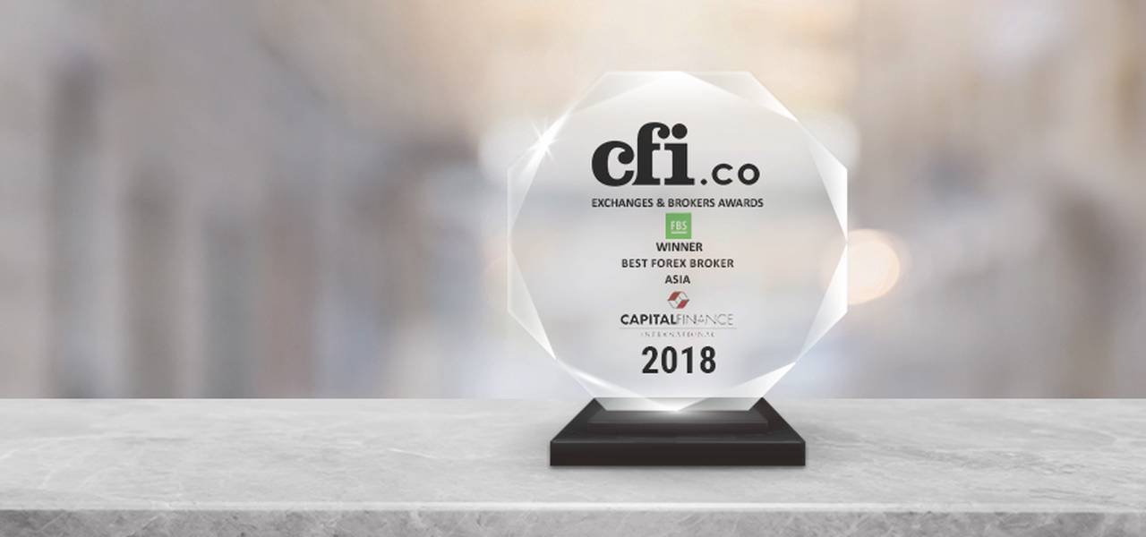 FBS received CFI's 'Best Forex Broker Asia 2018' award